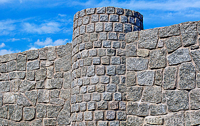 New  Stone Fence Royalty Free Stock Photography - Image: 22829017