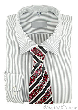 Free New Striped Shirt With Paisley Necktie Stock Image - 18295761