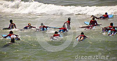 New surfers Editorial Stock Photo