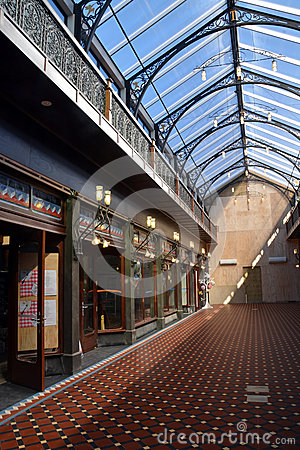 The New Tannery Victorian Style Shopping Arcade, Christchurch Editorial Stock Photo