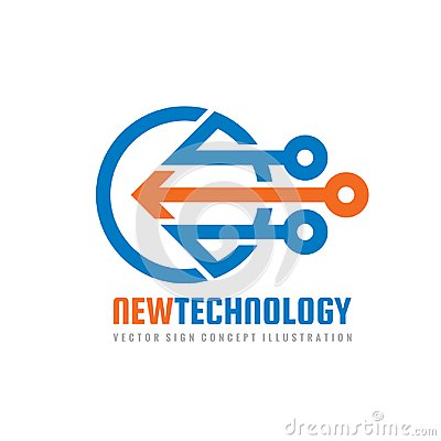 Free New Technology - Vector Logo Template For Corporate Identity. Abstract Chip Sign. Network, Internet Tech Concept Illustration. Royalty Free Stock Photo - 105472935