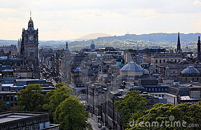 New Town. Edinburgh. Scotland. UK.