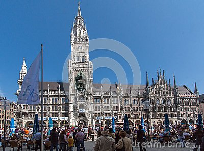 New Town Hall Munich Germany Editorial Image