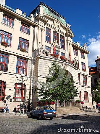 New town hall, Prague, Czech Republic Editorial Photography