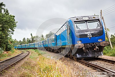 New train in srilanka Editorial Photo
