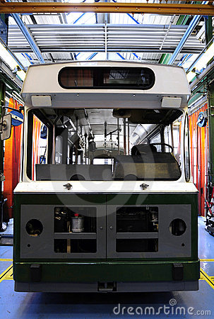 New tram in the factory