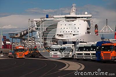 New trucks in the port