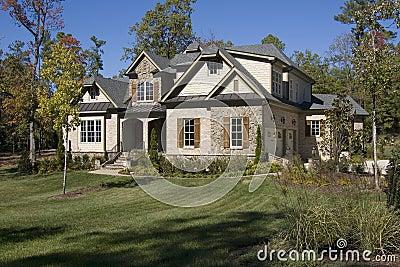 New upscale suburban house