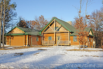 New vacation home in winter