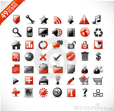 Free New Web And Mutimedia Icons Royalty Free Stock Photos - 9334448