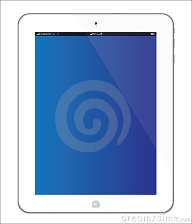 New white Apple iPad 3 tablet Editorial Image