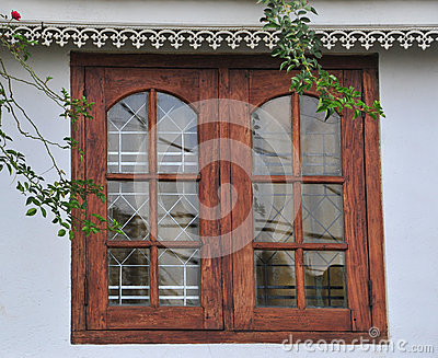 New Windows In Old Stone Wall Stock Photo - Image: 53783920
