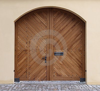 New wooden gate