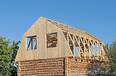 New wooden house construction