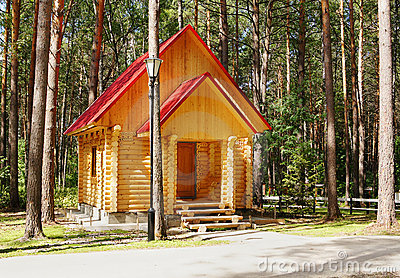 New wooden house made of logs