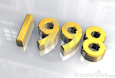 New Year 2000 In Gold (3D) Royalty Free Stock Images - Image: 3823869