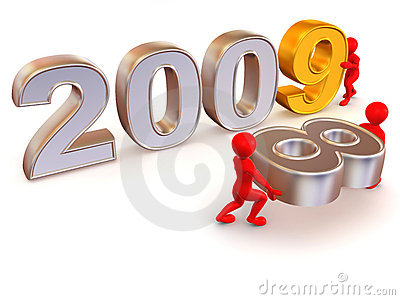 New Year 2009 Illustration 3D Royalty Free Stock Photo - Image ...