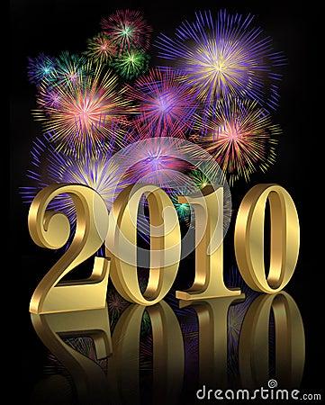 Free New Year 2010 Digital Fireworks Stock Photos - 9174693