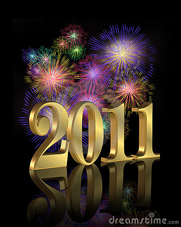 Free New Year 2011 Fireworks Royalty Free Stock Photography - 13160957