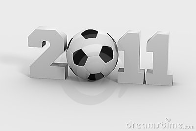 New Year 2011 with soccer ball