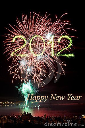 New year 2012 fireworks