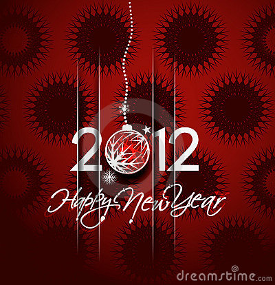 New year 2012 poster