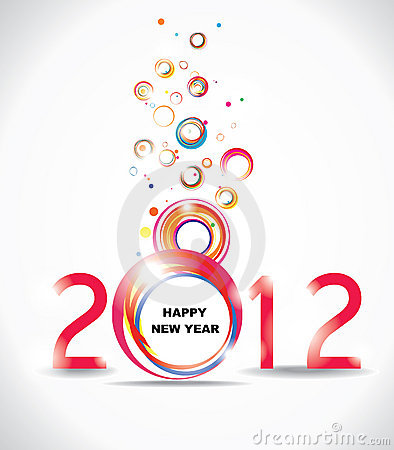 New year 2012 in white background.