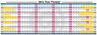 New Year 2012 year planner