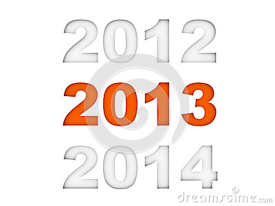 New Year 2013 Stock Image - Image: 26447421