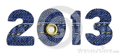 The New Year 2013 - blue jeans fonts