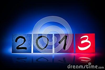 New year 2013, concept, light graffiti