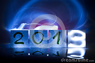 New year 2013, concept, light graffiti