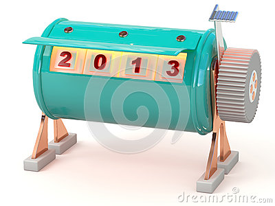 New year 2013 counter