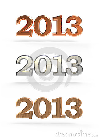 New year 2013 numbers