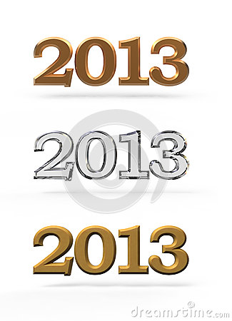 New Year 2013 Numbers Royalty Free Stock Photos - Image: 26501258