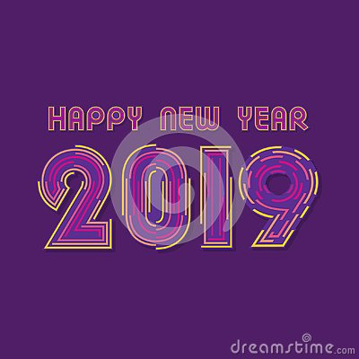 Free New Year 2019 Poster Design Stock Photo - 132366760