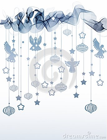 New year abstract background with wave and angels