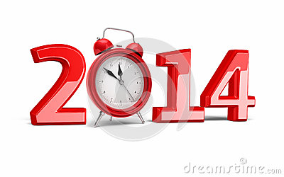 New Year 2014 and Alarm Clock