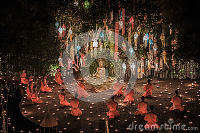 New year anniversary festival at Chaing mai Editorial Image