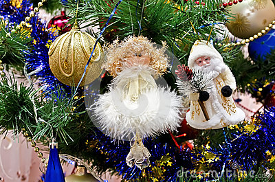 New Year background - beautiful on a Christmas tree