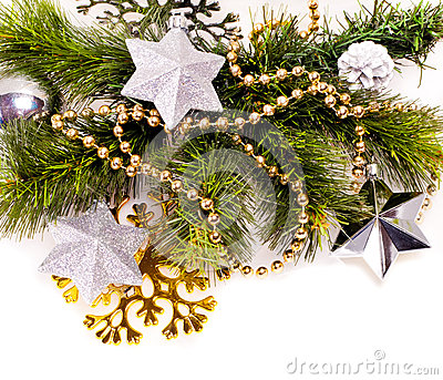 New year background with decorations
