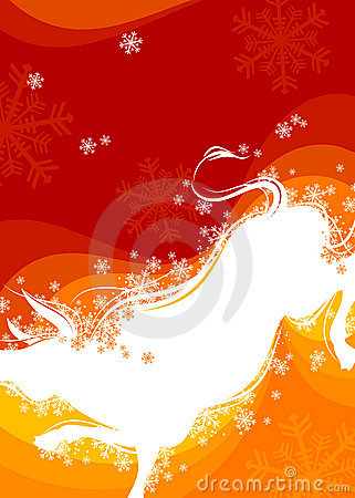 New Year background. Ox 4