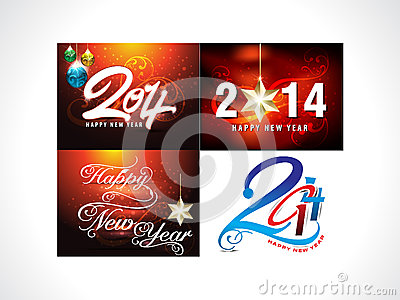 New Year Background Set