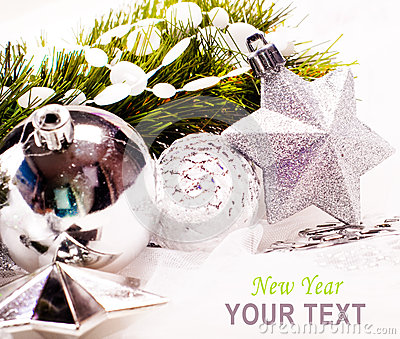 New year background with star decoration