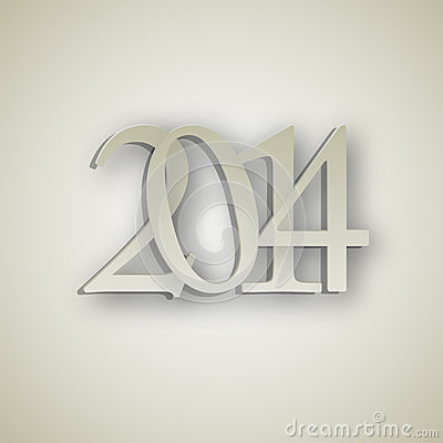 2014 New Year background vector illustration