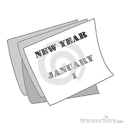 New Year on the Calendar