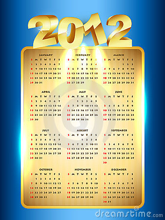 New year calender