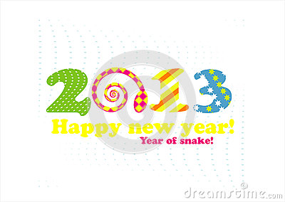 New year card 2013 with snake