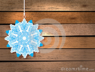 New Year card with snowflake