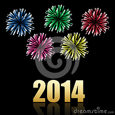2014 new year celebration background